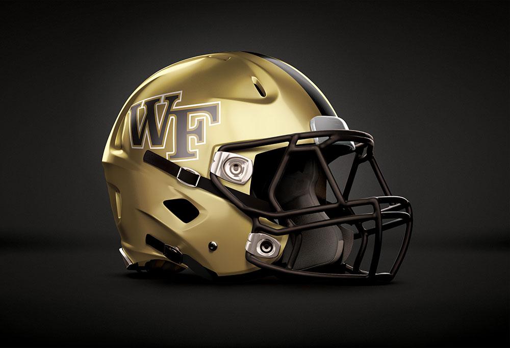 Wake Forest Football Helmet